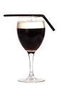 The French Coffee drink is made from cognac, brown sugar, hot coffee and whipped cream, and served in a wine or irish coffee glass.
