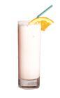 The Hannas Rose drink is made from Tequila Rose, creme de bananes, Licor 43 and cold milk, and served in a highball glass.