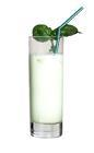 The Hulk drink is made from vodka, Midori Melon Liqueur and milk, and served in a highball glass.