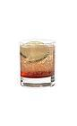 The Jack Bauer drink is made from strawberry vodka, orange curacao and Roses Lime, and served in an old-fashioned glass.