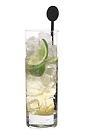 The Madrid drink is made from vodka, Licor 43, lime wedges and sugar syrup, and served in a highball glass.