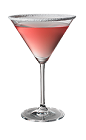 The Red Zombie is made from Skyy vodka, cranberry juice and triple sec, and served in a chilled cocktail glass.