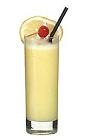The Spanish Bomb drink is made from vodka, Licor 43, orange juice and milk, and served in a highball glass.