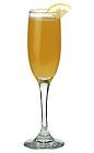 The Stephanie drink is made from Cointreau, champagne and orange juice, and served in a champagne flute.