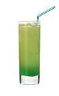 The Tropicooler drink is made from Pisang Ambon, lime vodka and pineapple juice, and served in a highball glass.