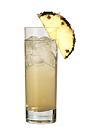 The Vanilla Sky drink is made from vanilla vodka, Sourz Pineapple and lemon-lime soda, and served in a highball glass.